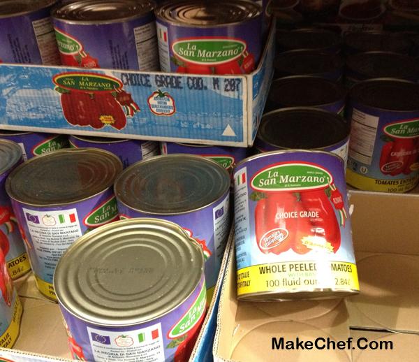 san marzano tomato cans at costco
