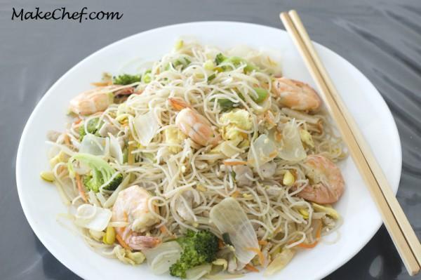 Chow Mei Fun - Stir fry rice stick noodle recipe