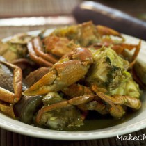 Crab curry with eggplant recipe