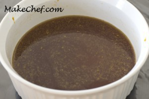 Mix about 1/2 cup water and sugar