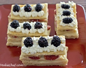 mille feuilles strawberry blackberry