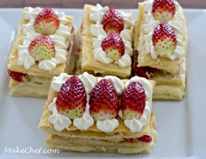 mille feuilles strawberry