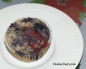 no sugar multicolored muffin